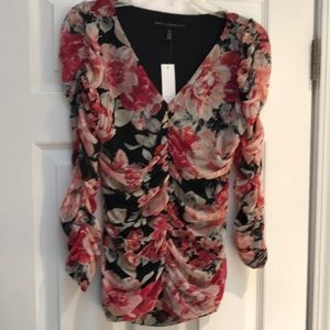 New! Floral ruched top